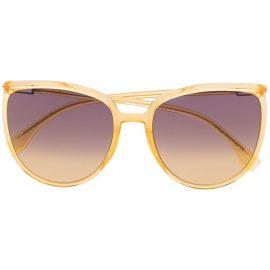 Fendi Eyewear round-frame sunglasses - Yellow