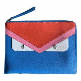 Fendi N Blue Leather Clutch Bag for Women