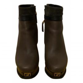 Fendi N Leather Ankle boots for Women