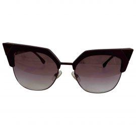 Fendi N Purple Metal Sunglasses for Women