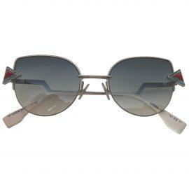 Fendi N Silver Metal Sunglasses for Women