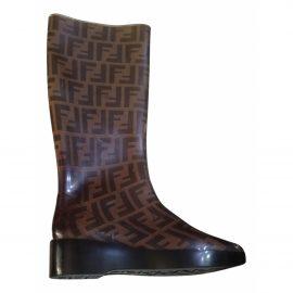 Fendi Patent leather wellington boots