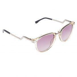 Fendi Silver/Pink Iridia FF 0039/S Round Sunglasses