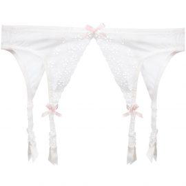 Folies By Renaud Antoinette suspender belt - White