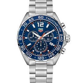 Formula 1 43MM Stainless Steel & Aluminum Bezel Quartz Chronograph Bracelet Watch