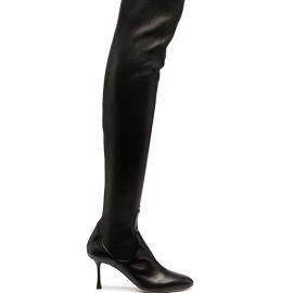 Francesco Russo thigh-high boots - Black