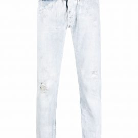 GALLERY DEPT. mid-rise straight-leg bleached jeans - Blue