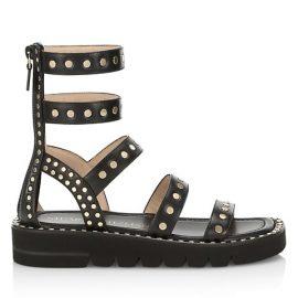 Gala Lift Studded Leather Gladiator Sandals