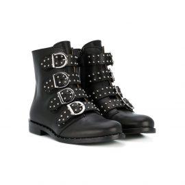 Gallucci Kids buckle-detail biker boots - Black