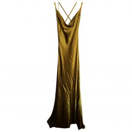 Galvan London N Gold Silk Dress for Women