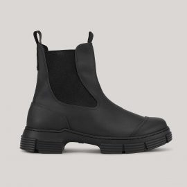 Ganni Recycled Rubber Chelsea Boot - EU36 Black