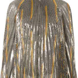 Giambattista Valli embroidered long-sleeve blouse - Gold