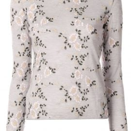 Giambattista Valli floral embroidered sweater - Grey
