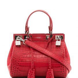 Giambattista Valli small croc-effect tote - Red
