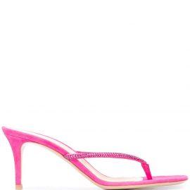 Gianvito Rossi Calypso heeled flip-flops - PINK