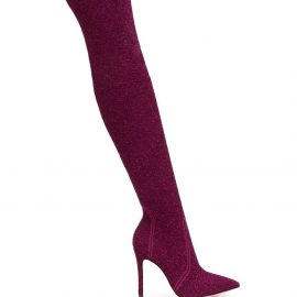 Gianvito Rossi Fiona bouclé-knit boots - PINK