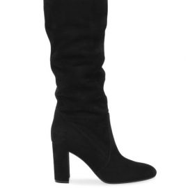 Gianvito Rossi - Glen 85 Suede Knee-high Boots - Womens - Black