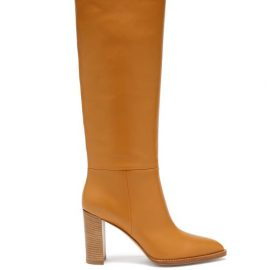 Gianvito Rossi - Kerolyn 85 Leather Knee-high Boots - Womens - Tan