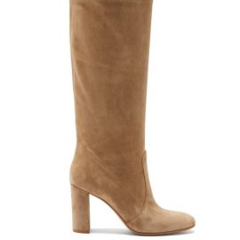 Gianvito Rossi - Knee-high 85 Suede Boots - Womens - Beige