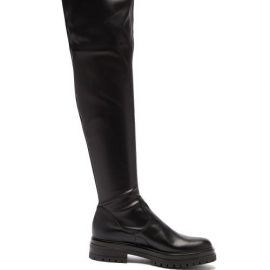 Gianvito Rossi - Marsden Zip-front Leather Over-the-knee Boots - Womens - Black