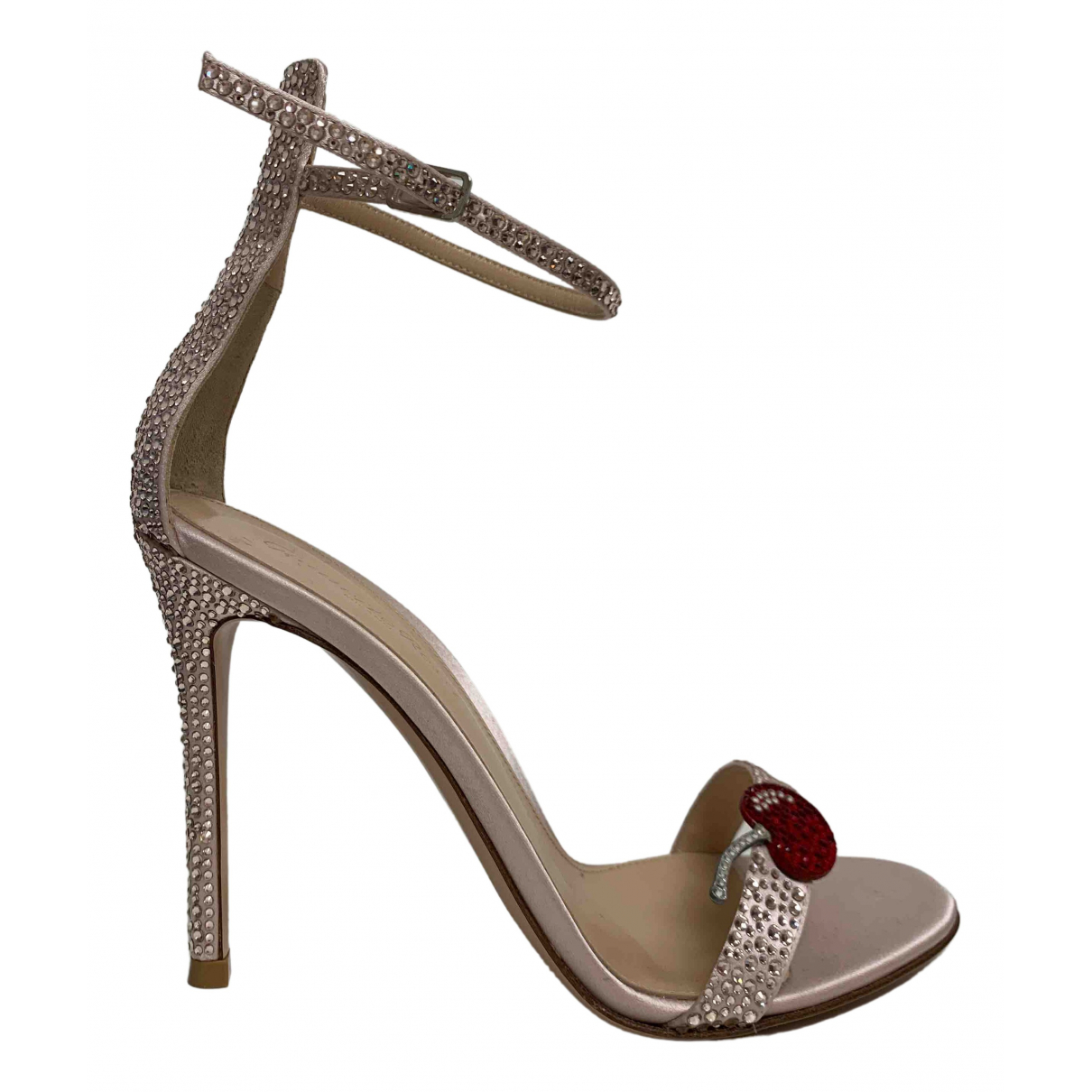 Gianvito Rossi N Pink Cloth Sandals for Women