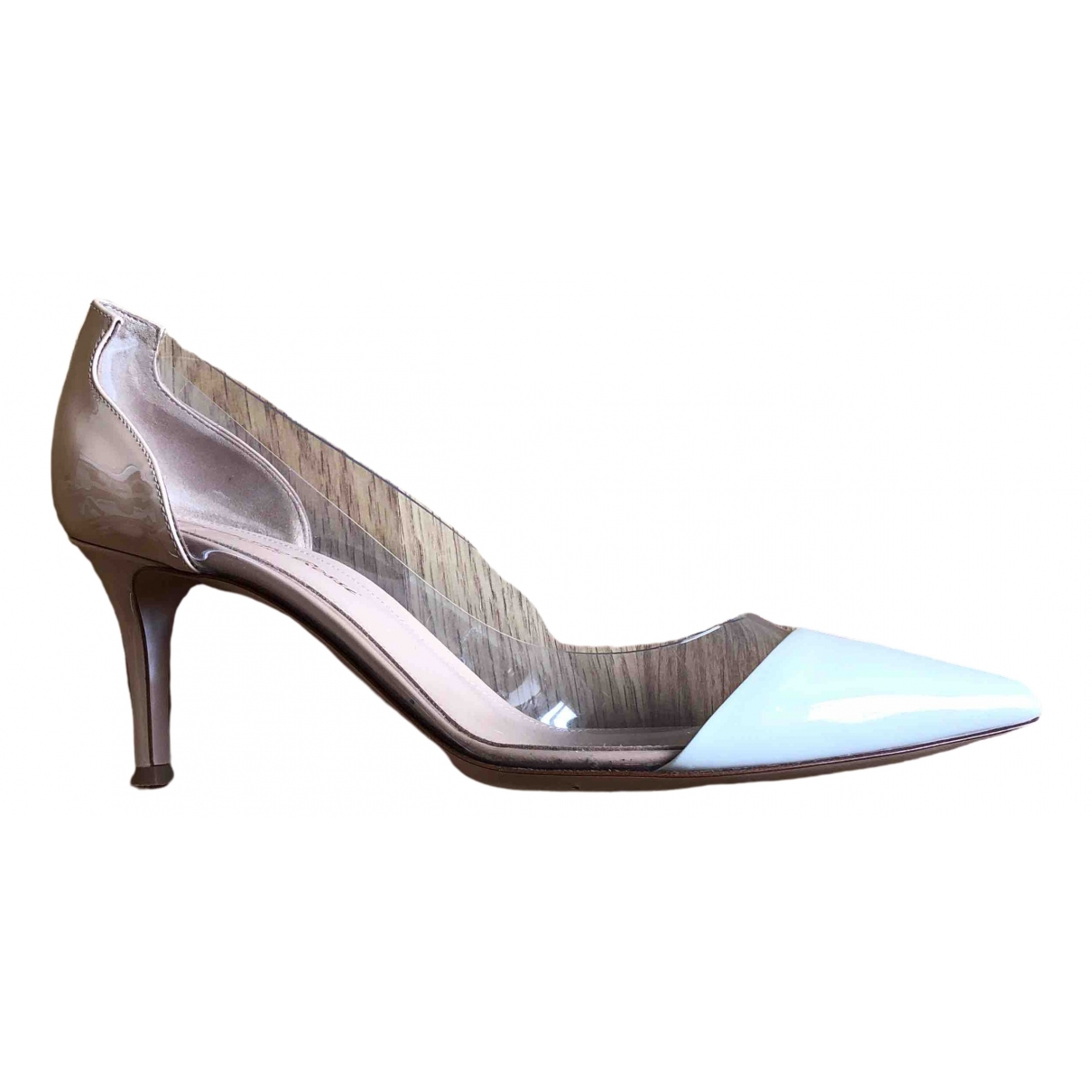 Gianvito Rossi Plexi White Patent leather Heels for Women