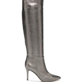 Gianvito Rossi knee-length metallic effect boots - Grey