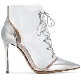 Gianvito Rossi lace-up ankle boots - Metallic