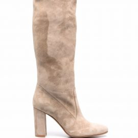 Gianvito Rossi suede knee-high boots - Neutrals