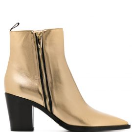 Gianvito Rossi western boots - GOLD