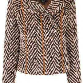 Giorgio Armani chevron embroidered jacket - Orange