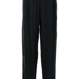 Giorgio Armani elasticated straight-leg trousers - Black