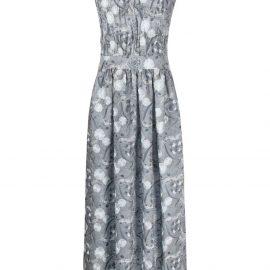 Giorgio Armani embroidered silk dress - Blue
