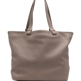 Giorgio Armani leather shopping bag - Brown