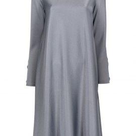Giorgio Armani long-sleeve flared dress - Blue