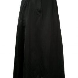 Giorgio Armani satin midi skirt - Black
