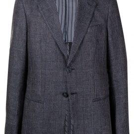 Giorgio Armani single-breasted tailored jacket - Blue