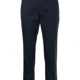 Giorgio Armani slim-fit cropped trousers - Blue