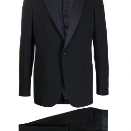 Giorgio Armani two-piece virgin wool suit - Blue