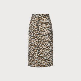 Giovanna Leopard Print Pencil Skirt, Multi