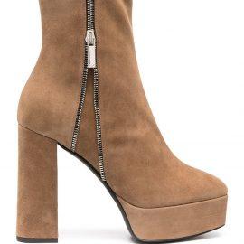 Giuseppe Zanotti platform ankle boots - Neutrals