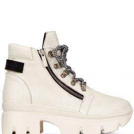 Giuseppe Zanotti platform hiking boots - White
