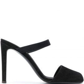 Giuseppe Zanotti square toe mules - Black