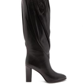 Givenchy - Gathered Knee-high Leather Boots - Womens - Black