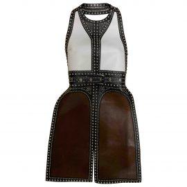 Givenchy Leather cardi coat