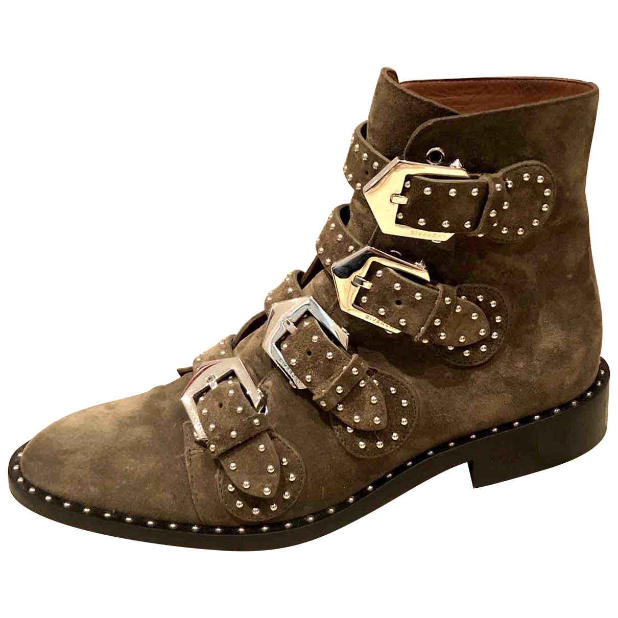 Givenchy N Khaki Suede Ankle boots for Women