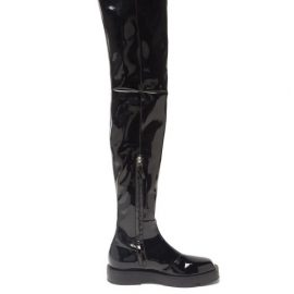 Givenchy - Patent-leather Over-the-knee Boots - Womens - Black