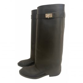 Givenchy Shark leather riding boots