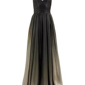 Givenchy - V-neck Ombré Silk-blend Lamé Gown - Womens - Khaki Multi