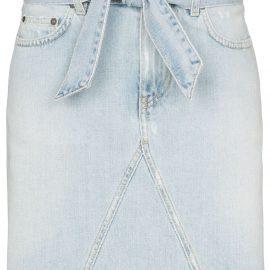 Givenchy belted denim mini skirt - Blue